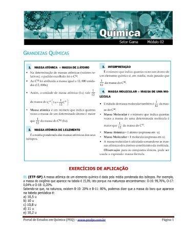 Massa Molecular - Portal de Estudos em Química