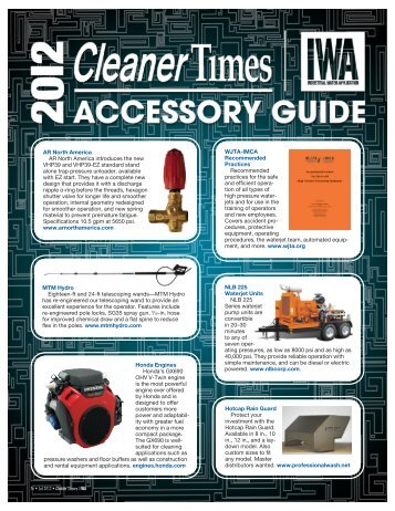 2012 Cleaner Times/IWA Accessory Guide - Cleaner Times Magazine