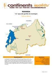 RWANDA - Continents Insolites