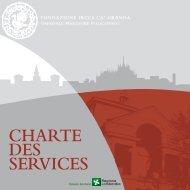 CHARTE DES SERVICES - Ospedale Maggiore Policlinico