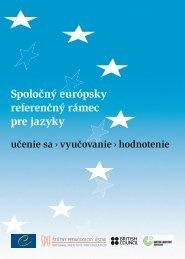 Spoločný európsky referenčný rámec - Štátny pedagogický ústav