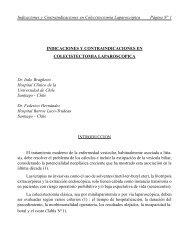Indicaciones y contraindicaciones en colecistectomía laparoscópica