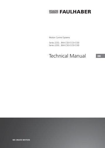 Technical Manual - Dr. Fritz Faulhaber GmbH & Co. KG
