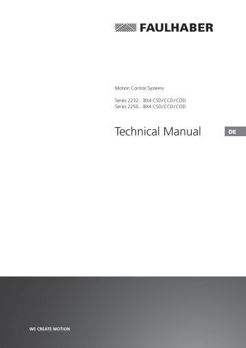 Technical Manual - Dr. Fritz Faulhaber GmbH & Co. KG