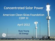 Concentrated Solar Power - American Clean Skies Foundation
