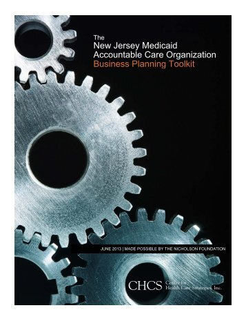 New Jersey Medicaid ACO Business Planning Toolkit - Center for ...