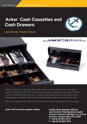 Anker Universal Cash Drawer UCD Brochure - Anchor Data Systems
