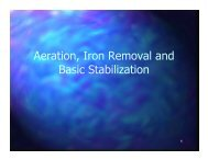 Aeration, Iron Removal and Basic Stabilization