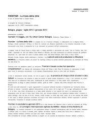 FRONTIER - La linea dello stile - Bologna Welcome
