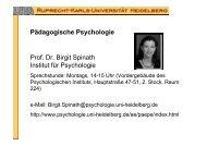 Pädagogische Psychologie Prof. Dr. Birgit Spinath Institut für ...