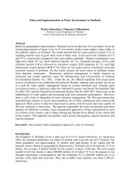 Policy and Implementation on Water Environment in Thailand Wijarn ...