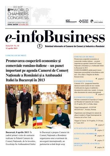 e-infoBusiness nr. 14/12.04.2013 - Camera de Comert si Industrie a ...