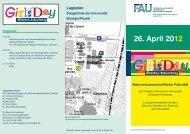26. April 2012 - Naturwissenschaftliche Fakultät der FAU - Startseite