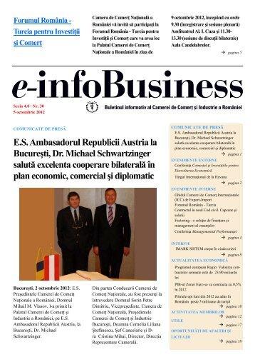 e-infoBusiness nr. 30/05.10.2012 - Camera de Comert si Industrie a ...