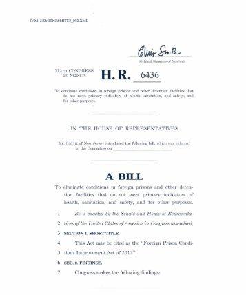 Wk. - Chris Smith - House of Representatives