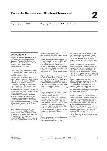 (Thieme) over de Codex Alimentarius (pdf) - Uitdaging.net