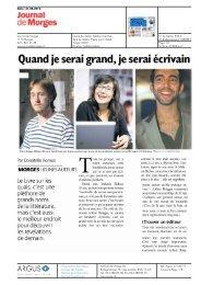 Journal de Morges, 31.08.2012 - Le Livre sur les quais