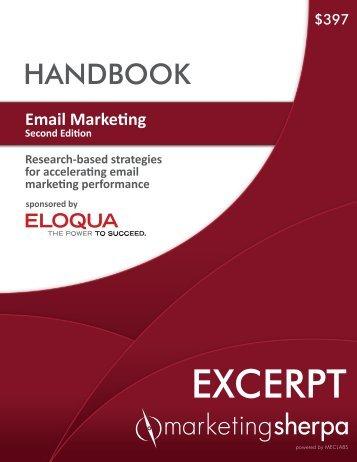 Email Marketing Handbook: Second Edition - MarketingSherpa