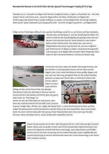 Rennbericht Rennen 2 am 24.07.2011 bei der Special ... - Pistenclub