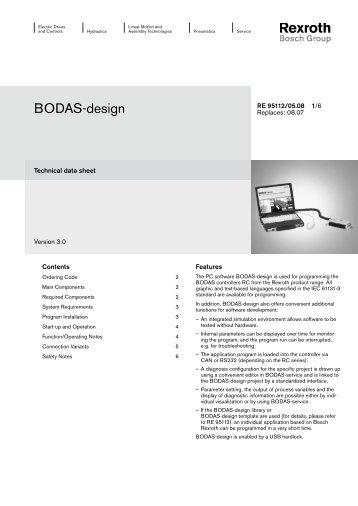 BODAS-design - Airline Hydraulics