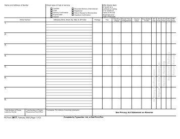 Usps Form 3877 Tekil Lessecretsdeparis Co
