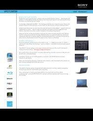 VPCF136FDB - Sony