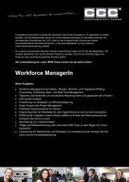 Jobbeschreibung - Competence Call Center