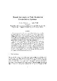 Timed Automata as Task Models for Event-Driven Systems - Artes