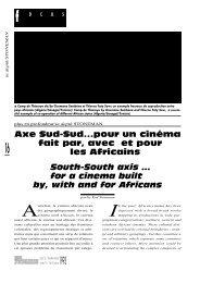 pour un cinéma fait par et pour les Africains / South ... - Africultures