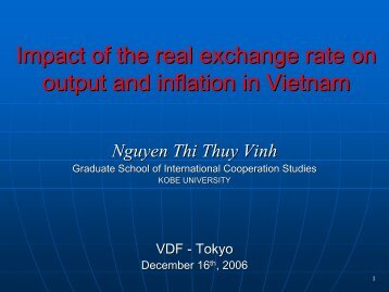 Impact of the real exchange rate on output and inflation in Vietnam