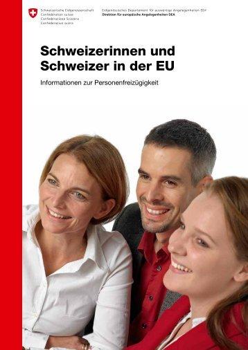 Schweizerinnen und Schweizer in der EU - Bundesamt für Migration