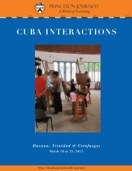 CUBA INTERACTIONS - Alumni Association of Princeton University