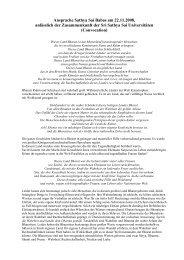 Ansprache vom 22.11.2008 - der Avatar unserer Zeit