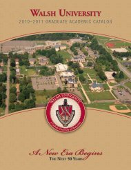 2010-2011 graduate - Walsh University