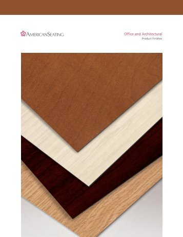 Architectural and Office Finish Card - American Seating