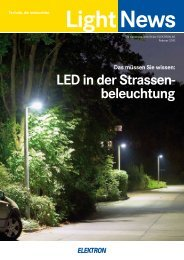 LED in der Strassen- beleuchtung - Elektron AG