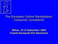 The European Online Marketplace: Consumer Complaints