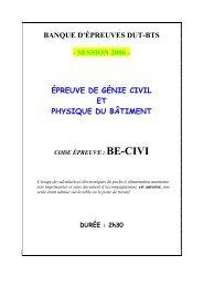 Génie civil - Concours ENSEA