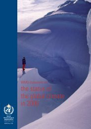 the status of the global climate in 2006 - E-Library - WMO