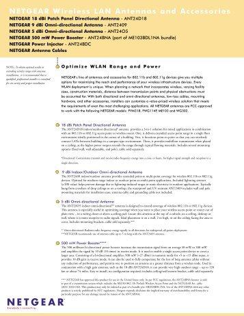 NETGEAR Wireless LAN Antennas and Accessories