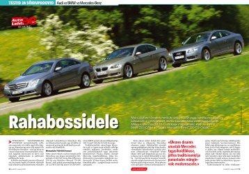 testid ja sõiduproovid Audi vs BMW vs Mercedes-Benz ... - Silberauto