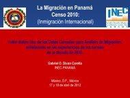 Presentación;Inmigración internacional en los censos de ... - RTC