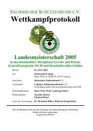 Landesmeisterschaften 2005 Kleinkaliber und Druckluftwaffen Schüler