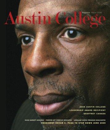 Magazine March 2008 PRESIDENT OSCAR C ... - Austin College