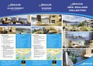 NEW ZEALAND COLLECTION - Oaks Hotels & Resorts