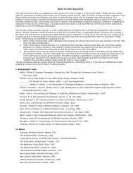 Books for Bible Expositors The works listed here are only ...