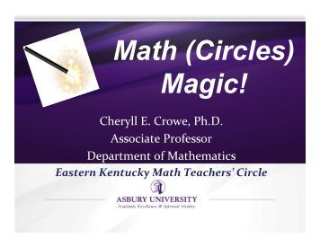 Math Circles PPT.pptx - Mathematical Association of America