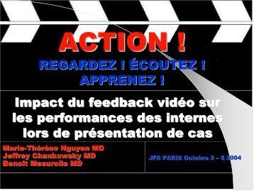 REGARDEZ ! ÉCOUTEZ ! APPRENEZ ! Impact du feedback vidéo ...