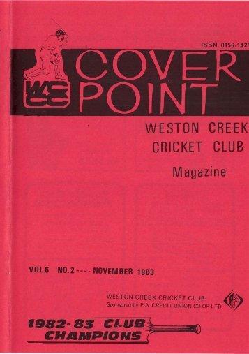 WESTON CREEK CRICKET CLUB Magazine