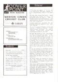 WESTON CREEK CRICKET CLUB Magazine - Page 3